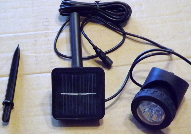 Solar LED spotlight $40