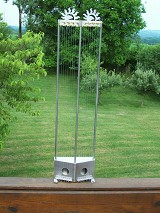 All stainless harp with sunrises,$990